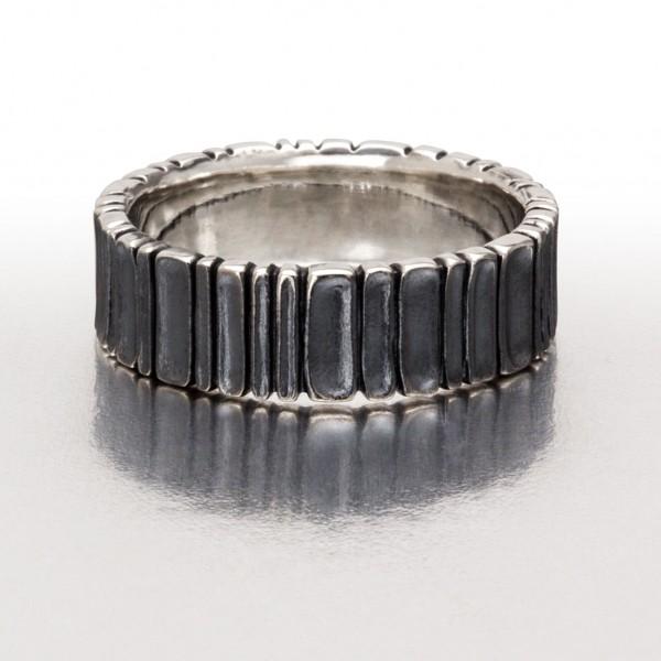 Wide DEEP SCOOPS Ring / Black
