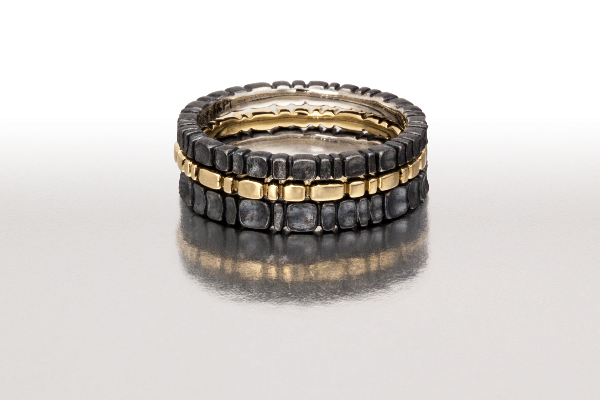 Black & Gold 3pc. Ring Stack I