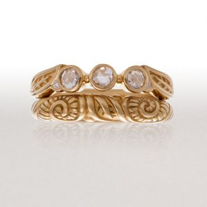 Alternative Gold and Diamond Bridal Wedding Jewelry